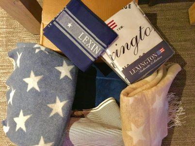 Tekstiler levert av posten