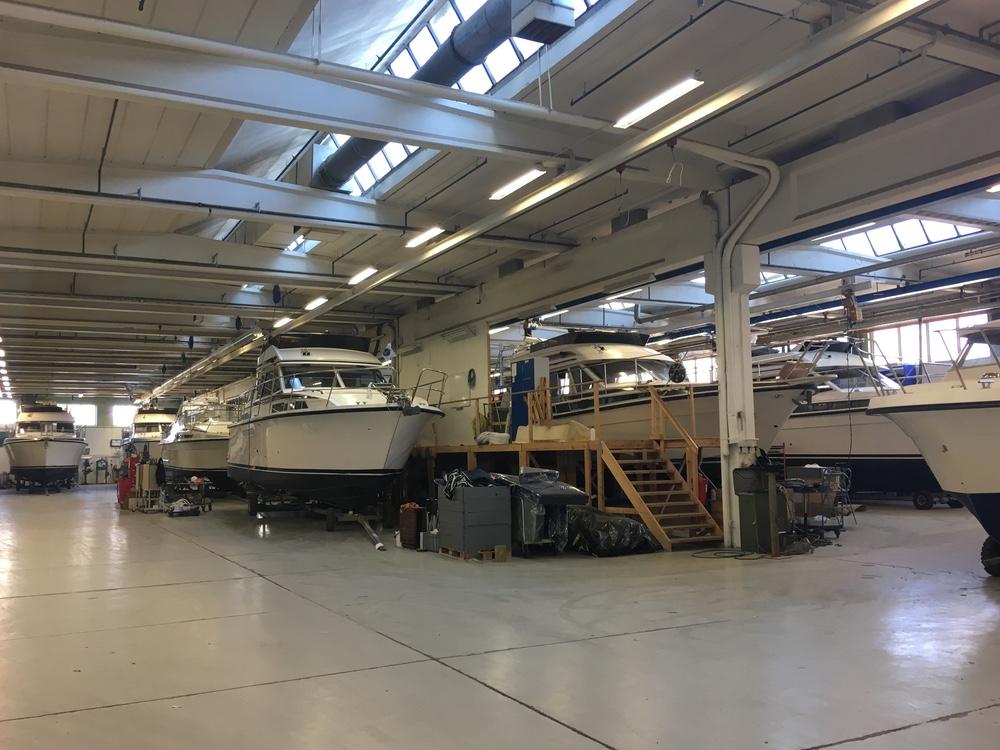 Eldre båter Storebro hadde inne til rehabilitering